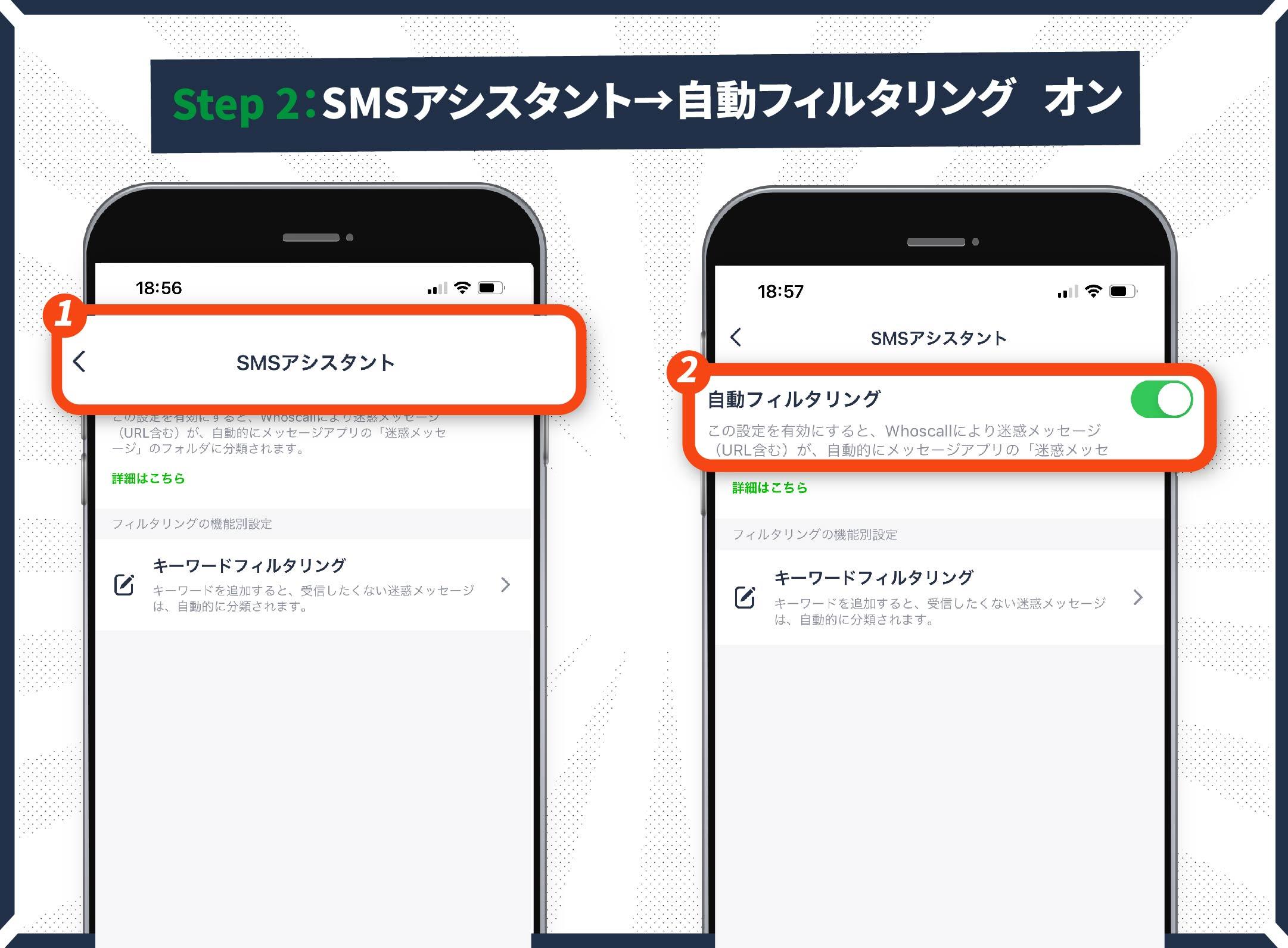 SMSアシスタントの設定手順