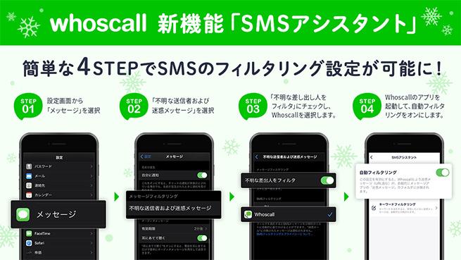 SMSアシスタントの設定方法